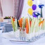 Овощи с сырным диппом